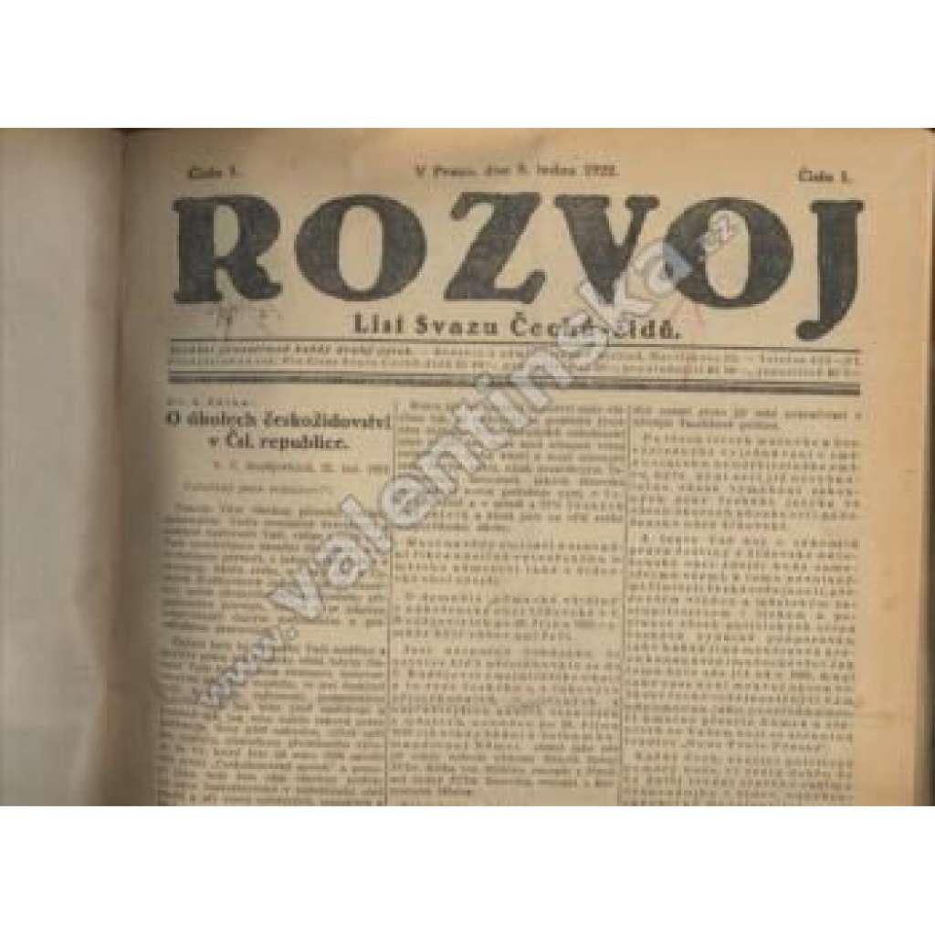Rozvoj, 1922 - komplet!